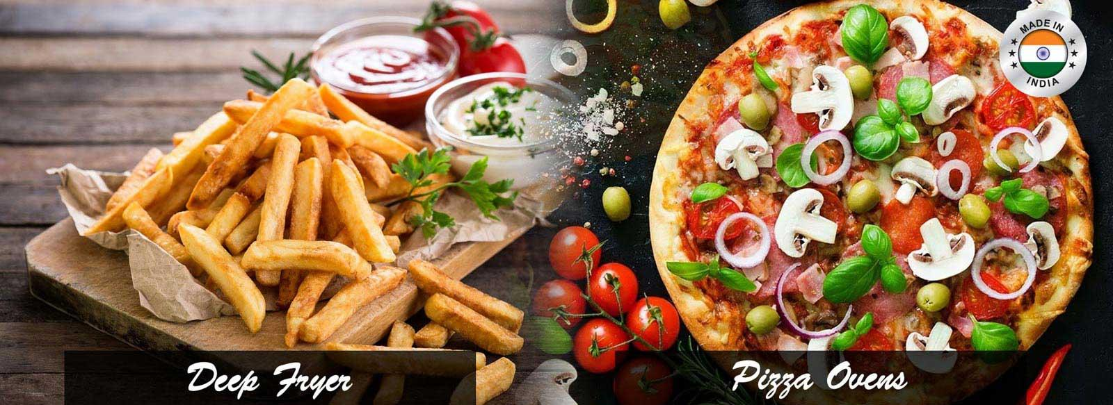 Deep Fryer and Pizza Ovens
